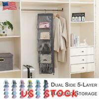 Tidy Hanging Handbag Organizer 10Pocket Shelf Bag Storage Holder Wardrobe Closet