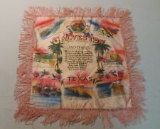 Wwii Era Galveston Tx Silk Pillow Sham Poem to Mother from Soldier