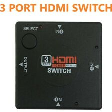 Hdmi 3 Port Switch AUTO Switcher Splitter Selector HUB Box Cable HDTV 2160P v1.4