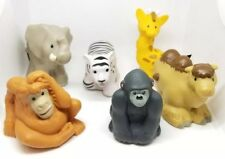 Little People Animals Lot of 6 Zoo Ark Elephant Tiger Giraffe Camel