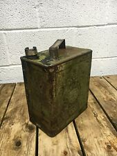 Vintage oil can , Rare Vintage Military petrol can  , 2 Gallon
