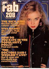 Fab 208 Magazine 4 March 1978    The Rich Kids    Marie Osmond    Leif Garrett