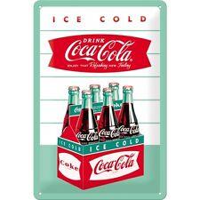 Targa in Latta Vintage Coca-Cola - Diner 20 x 30 in metallo stampato e decorato