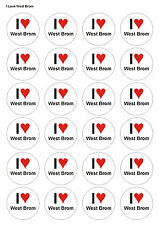 24X PRECUT WEST BROM FOOTBALL BIRTHDAY EDIBLE WAFER CUPCAKE CAKE TOPPERS 1378