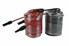 1 Pair 100 ft Solar Panel Extension Connector 10 AWG PV Cable Wire Blk/Red