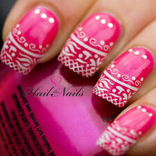 Nails WRAPS Nail Art Water Transfers Decals French Lace Sticker Tips Y871
