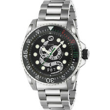 New Gucci Dive Black Dial Men's Stainless Steel Watch YA136218