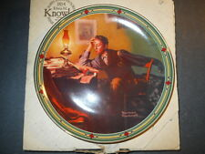 Norman Rockwell A Young Man'S Dream Knowles Collector'S Plate W/Box 16314G