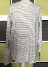 NORSE Project White & Blue Striped Long Sleeved Cotton Top Size L