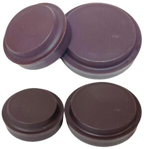 1/2/4 BROWN CHAIR/SOFA CASTOR CUPS Furniture/Carpet/Floor Protectors Caster Feet