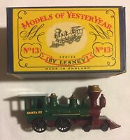 Lesney MATCHBOX Models Of  YesterYear No 13, American 4-4-0 Locomotive w/Org Box