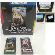 Action Max VHS Video Game System Console in Original Box + 3 games