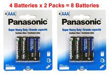 8x Panasonic AAA Batteries Heavy Duty Triple A 1.5v Carbon Zinc 4pk x 2