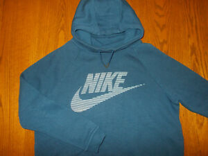 NIKE DARK BLUE FUNNEL NECK HOODED SWEATSHIRT WOMENS XL EXCELLENT CONDITION