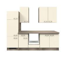 Küche ohne E-Geräte Küchenzeile Einbauküche ohne Elektrogeräte 270 cm creme