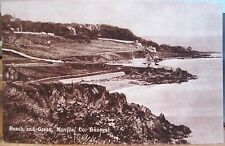 Irish Postcard BEACH & GREEN Golf MOVILLE Donegal Ireland Eire CTC Ref B 1940s