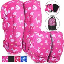 Pink Unicorn Rainbow Girl's Protective Sport Gear Knee Pads Elbow Pads Gloves