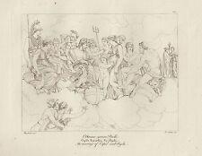 1805 Raffaello incisione in acciaio Cupido sposa Psiche