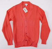 NWT $825 BRIONI Coral Pink Heavier-Knit Cotton Cardigan Sweater XL (Eu 56)