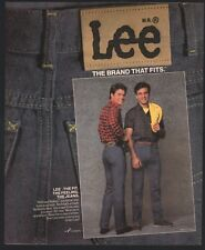 1984 LEE Riders Jeans Vintage AD Men's Clothing Advertising