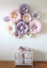 10 Mischgröße Papierblumen. 3D Wanddekor. Kernstück. Hochzeit Dekor.