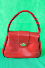 Carino Vintage 1960's Donna RED FAUX LEATHER HANDBAG