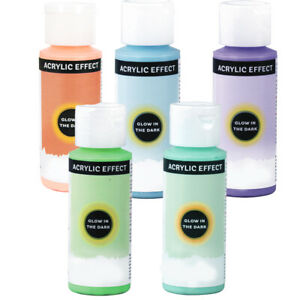59ml Glow In The Dark Acrylic Paint | Choice of Colours | Craft Paint