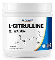Nutricost L-Citrulline (Base) Powder - (600 Grams)