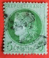 FRANCE Type CERES Vert-Jaune YT N° 53, , Oblit Etoile RR !!!