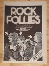 Rock Follies  1976 press advert Full page 26 x 39 cm poster