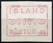Iceland 1984 SG#600a Frama Machine Label MNH #D48300