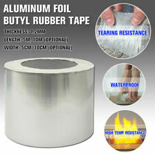 Aluminum Foil Butyl Rubber Tape Adhesive Waterproof Roof Pipe Marine Repair