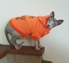 HALLOWEEN hoodie, Sphynx cat clothes, hotsphynx, hairless cat clothes, cat top
