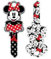 "MINNIE MOUSE "" Shaped ""  Reversable House Key Blank WEISER WR3 WR5 DISNEY"