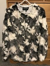 Ladies Faux Fur Coat, Size 10