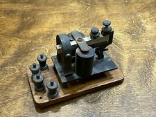 Antique TELEGRAPH SIGNAL SOUNDER Unit w base & terminals ~ Vintage Morse Code