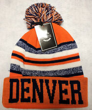 Denver Broncos Team Color Sideline Replica Pom Pom Knit Beanie Hat- NEW SHIPMENT