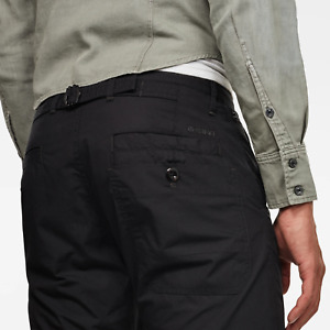 G-Star Chinos 'LOIC RELAXED TAPERED CHINO' Black Relaxed Tapered Fit W34 L32