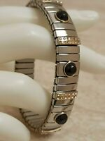 Evening Jewelry Swarovski Diamond Black Bracelet July Birthday 24k Gold Handmde