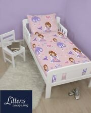Disney Sofia The First Junior 4 in 1 Bed Set Duvet & Cover Bundle Cot Toddler