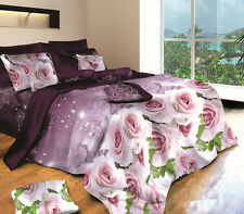 Brand New KingBed Quilt/Doona Cover 3 Piece Set, 3D Rose