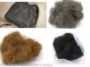 Upholstery horse hair coir fibre. Traditional upholstery fillings & supplies