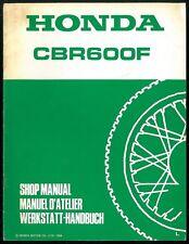 Revue d'Atelier complémentaire HONDA CBR 600 F type PC 23 -1990 Manuel Technique