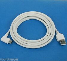 2M 6ft USB 2.0 Type A to C L-shaped Data Cable WHITE for LG Nexus 5X Huawei 6P