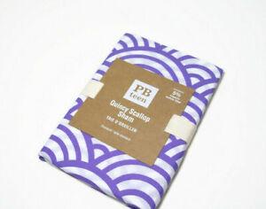 Pottery Barn Teen Purple Quincy Scallop Cotton Standard Pillow Cover Sham New