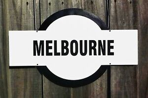 TIN SIGN - MELBOURNE, FOOTY Garage, Bar, Club Cafe Nameplate Gift