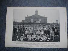 Rare original célèbres footballeurs, #024 sunderland football club 1895 - 96