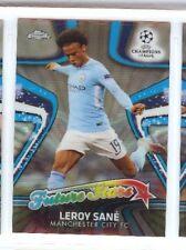 LEROY SANE 2018 TOPPS CHROME UEFA CHAMPIONS LEAGUE FUTURE STAR RC #FS-LS