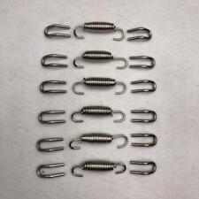18x Silver Stainless Steel Scooter Motorcycle Exhaust Pipe Muffler Springs Hooks