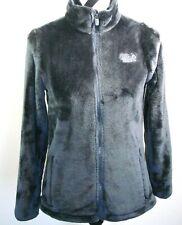 Fila Sport Plush Faux Fur Jacket Small Womens Charcoal Gray Zip Up